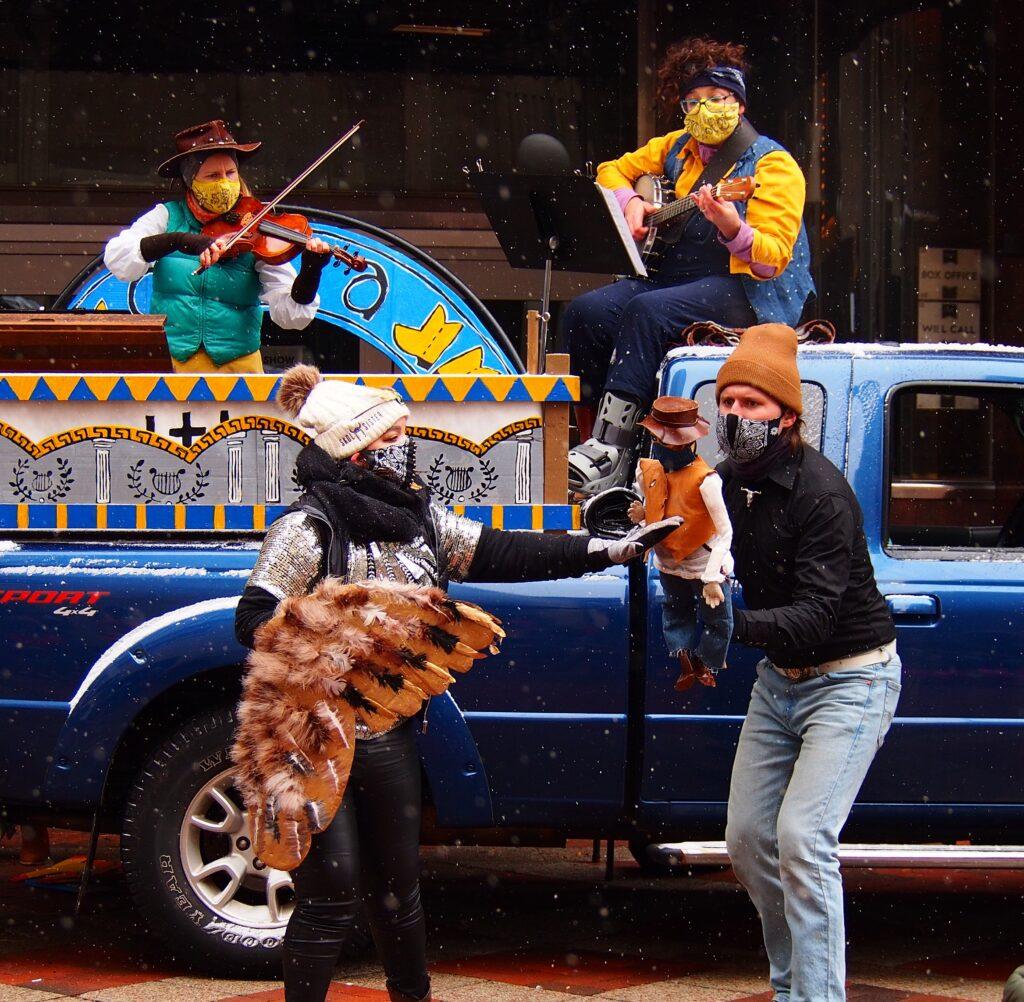 the pickup truck opera by mixed precipitation